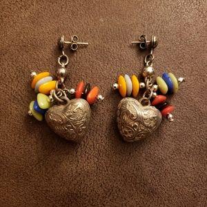 Jewelry - unique heart earrings